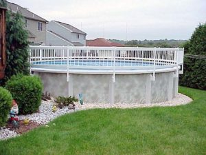 Swimming Pool Discounters24 39 White Pvc Above Ground Pool Fencing