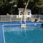 Aqua Sports Admirals Walk Rectangular Aluminum Pool