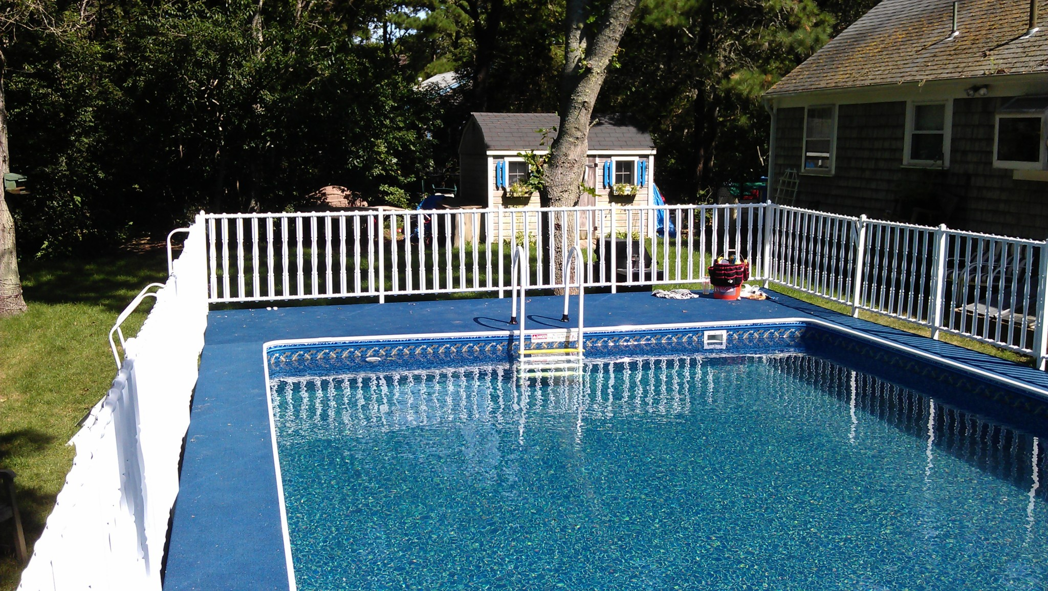 2019 Aqua Sports Admirals Walk Rectangular Aluminum Pool