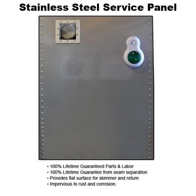 Swimming pool discounters stainless steel service panel - Swimming pool discounters new castle pa ...