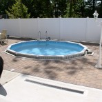 AQUASPORTS Round Pool with Exposed Wall
