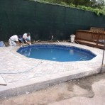 AQUASPORTS Round Pool with Raised Deck