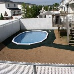 AQUASPORTS Oval Pool Ready for Deck