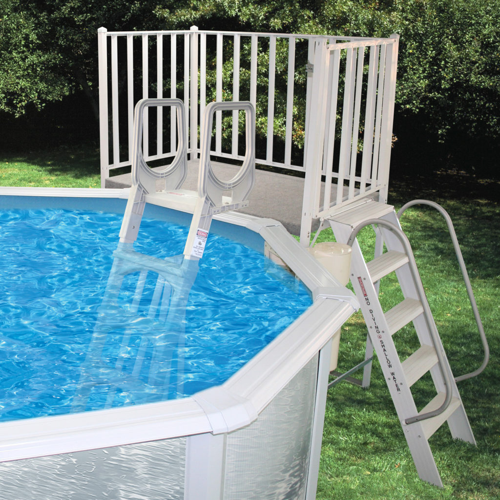 Swimming Pool Discountersfree Standing Aluminum Decks From