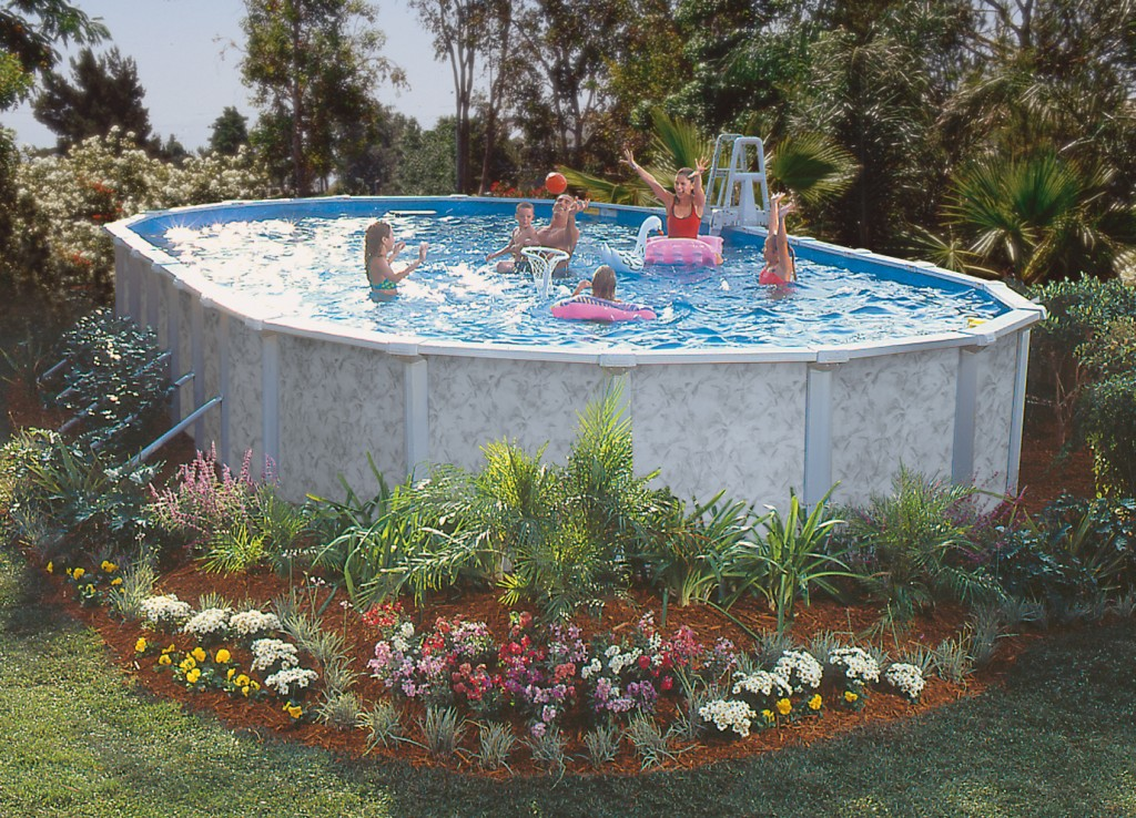 Swimming Pool Discounters52 54 Silver Interlude 8in Hybrid Resin Frame Pat