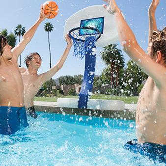 Swimming Pool Discounters2 N 1 Volleyball And Basket Ball Game