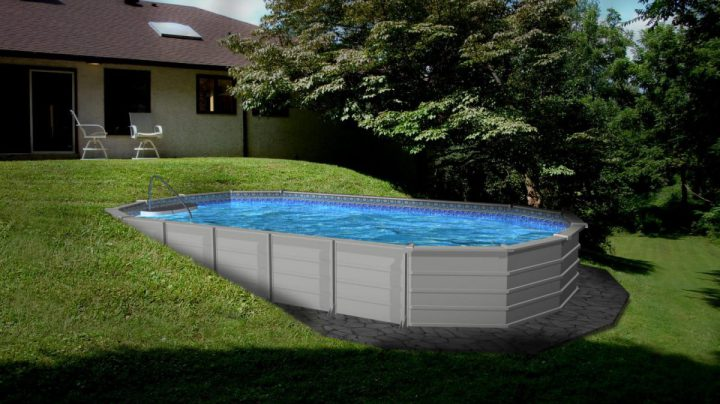 Semi inground pools good semi inground pools with green for Semi inground swimming pools