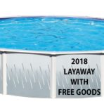 2018 15'X52″ Round (5.5in) Steel Pool FACTORY OVERRUN with FREE GOODS $588.87