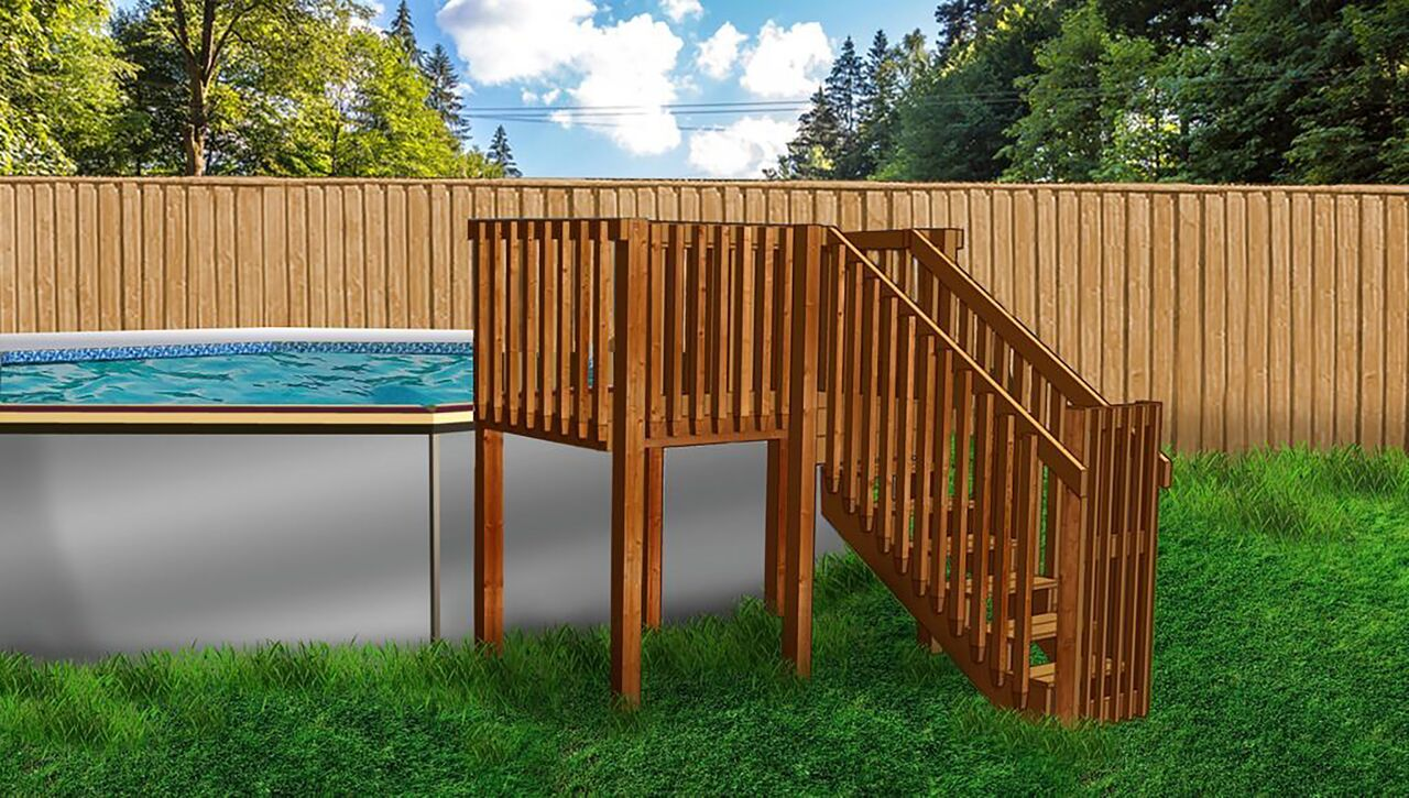 2019 Deck Mate 21 X52 Pool Package And Deck Closeout
