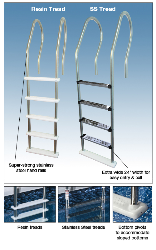 Swimming Pool Discounters Key West Stainless Steel In Pool Ladder Pvc Treads