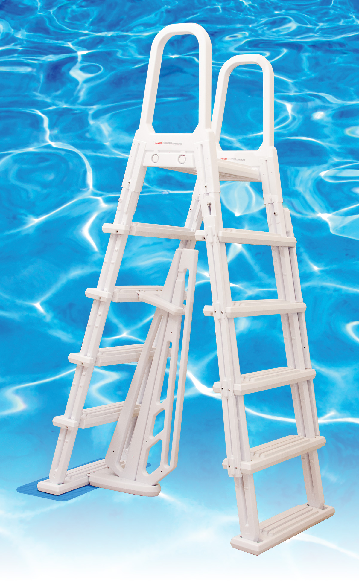 Dominica A-Frame 48″ to 54″ PVC Entry Ladder | swimming pool ...