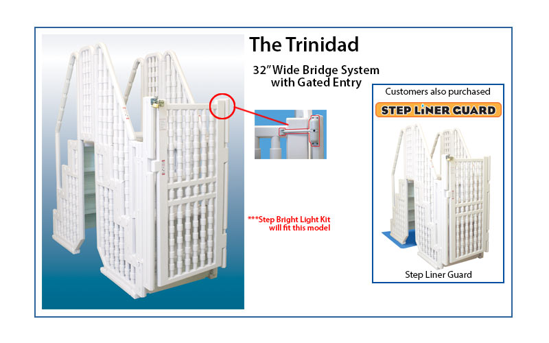 Ladders For Sale >> Trinidad Bridge Gated System for Pools 52″ to 54″ Deep | swimming pool discounters
