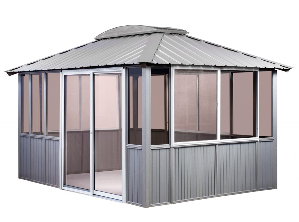 enclosed gazebo Big Fire - proof collapsible Gazebo Enclosed Canopy ...