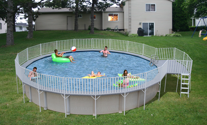 Round Promenade Deck Pools – swimming pool discounters