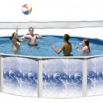 15'X21'X52″ NO BRACE Pole Pool (6in) Steel CLSOEOUT $1,099.99