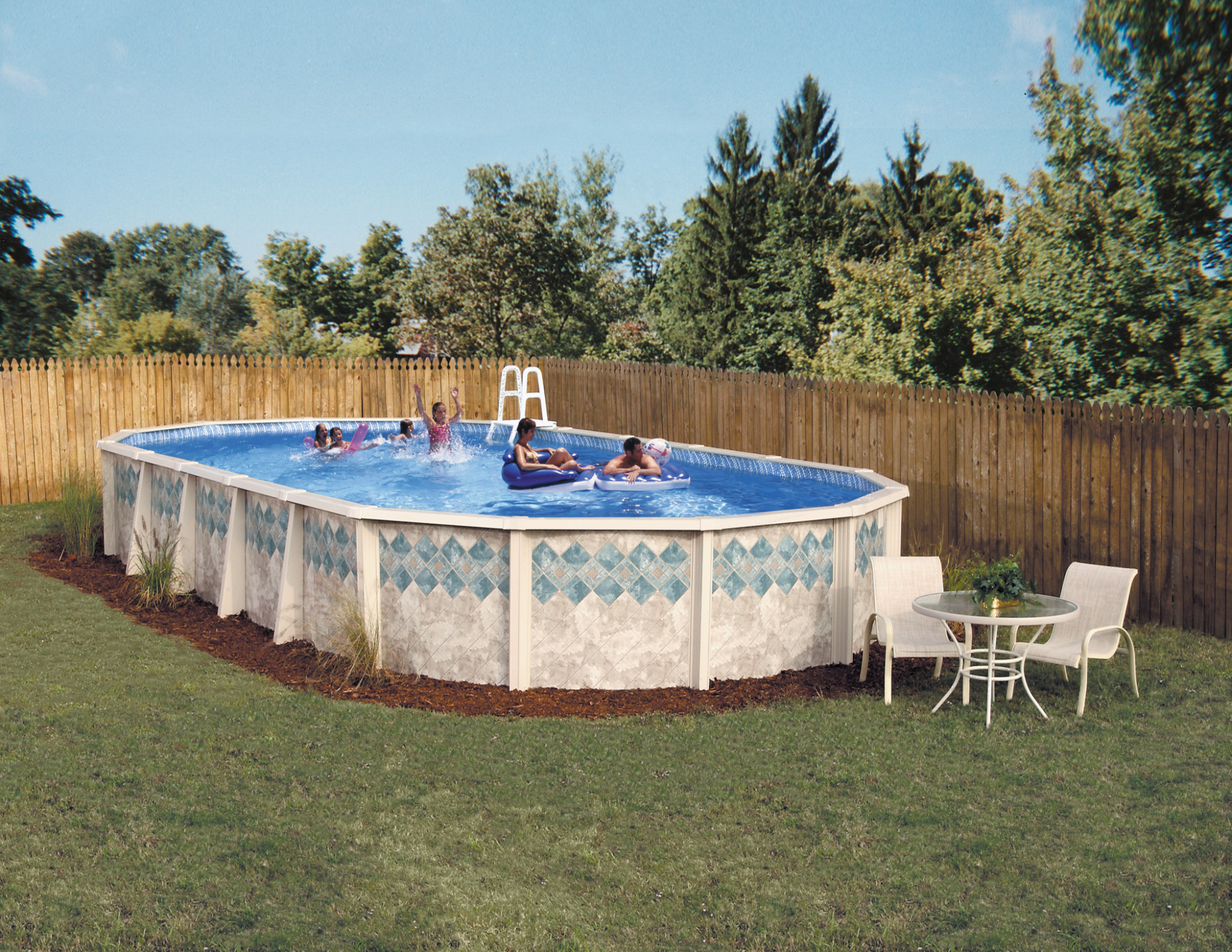 Image of: 2021 Doughboy Copper Canyon 7in Steel Frame 48 52 Pool Swimming Pool Discounters