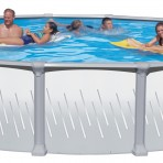 27'X52″ Round Stainless Resin Hybrid (8in) CLOSEOUT $1,599.99