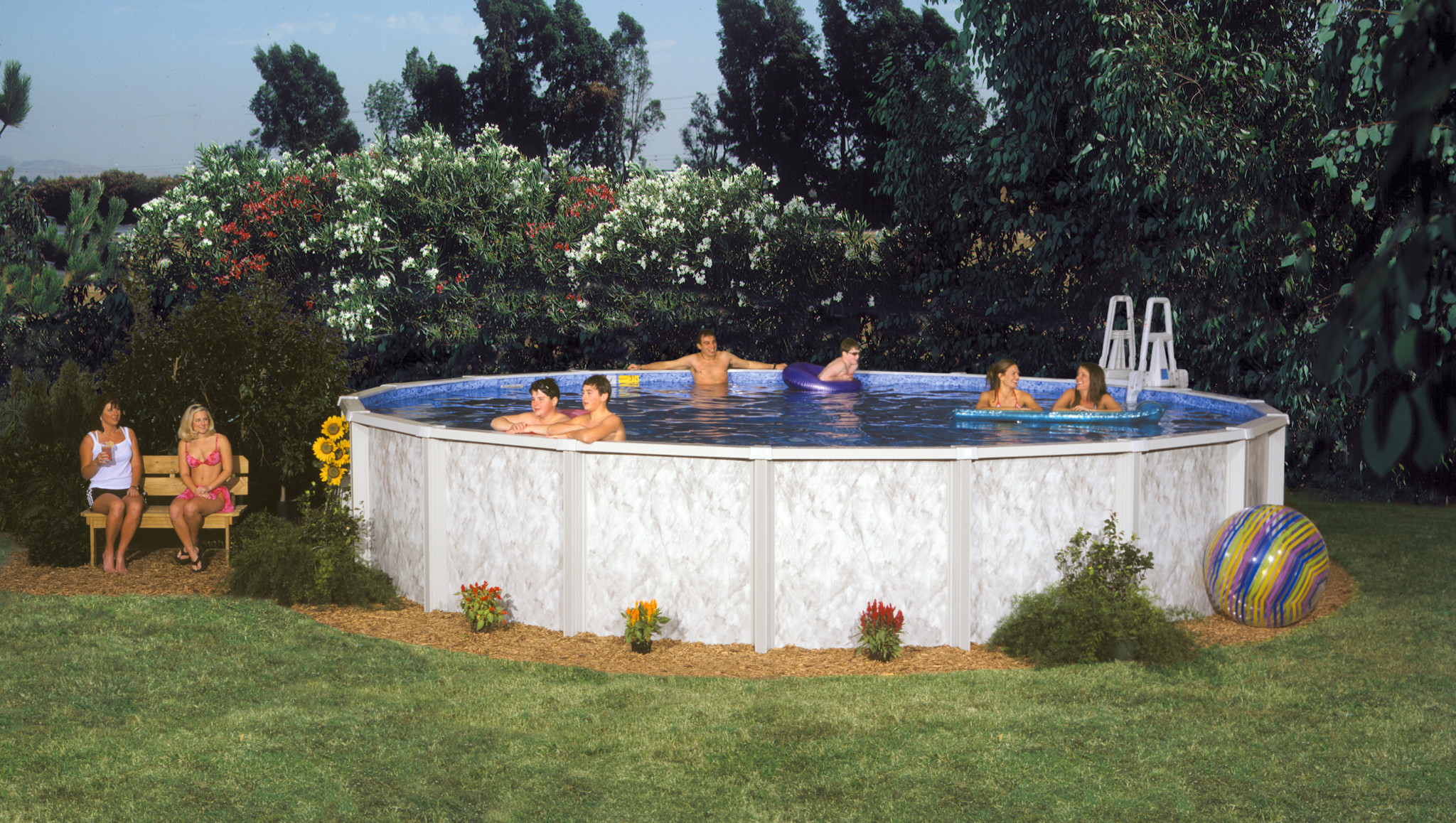 Image of: 2021 Doughboy Silver Lake 6in Steel Frame 52 Pool Swimming Pool Discounters
