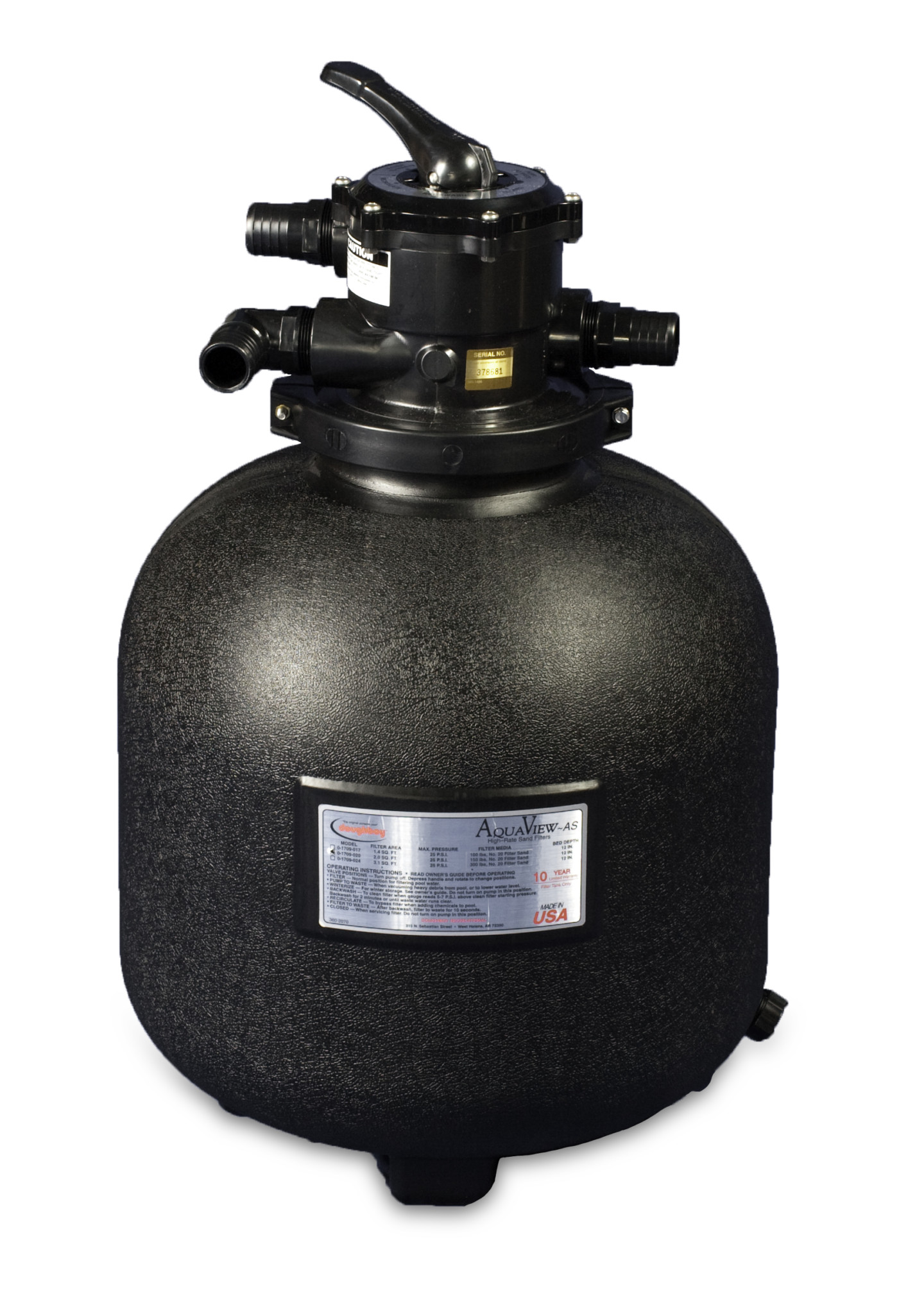 Aqua View Sand Filters Amp Systems From Swimming Pool