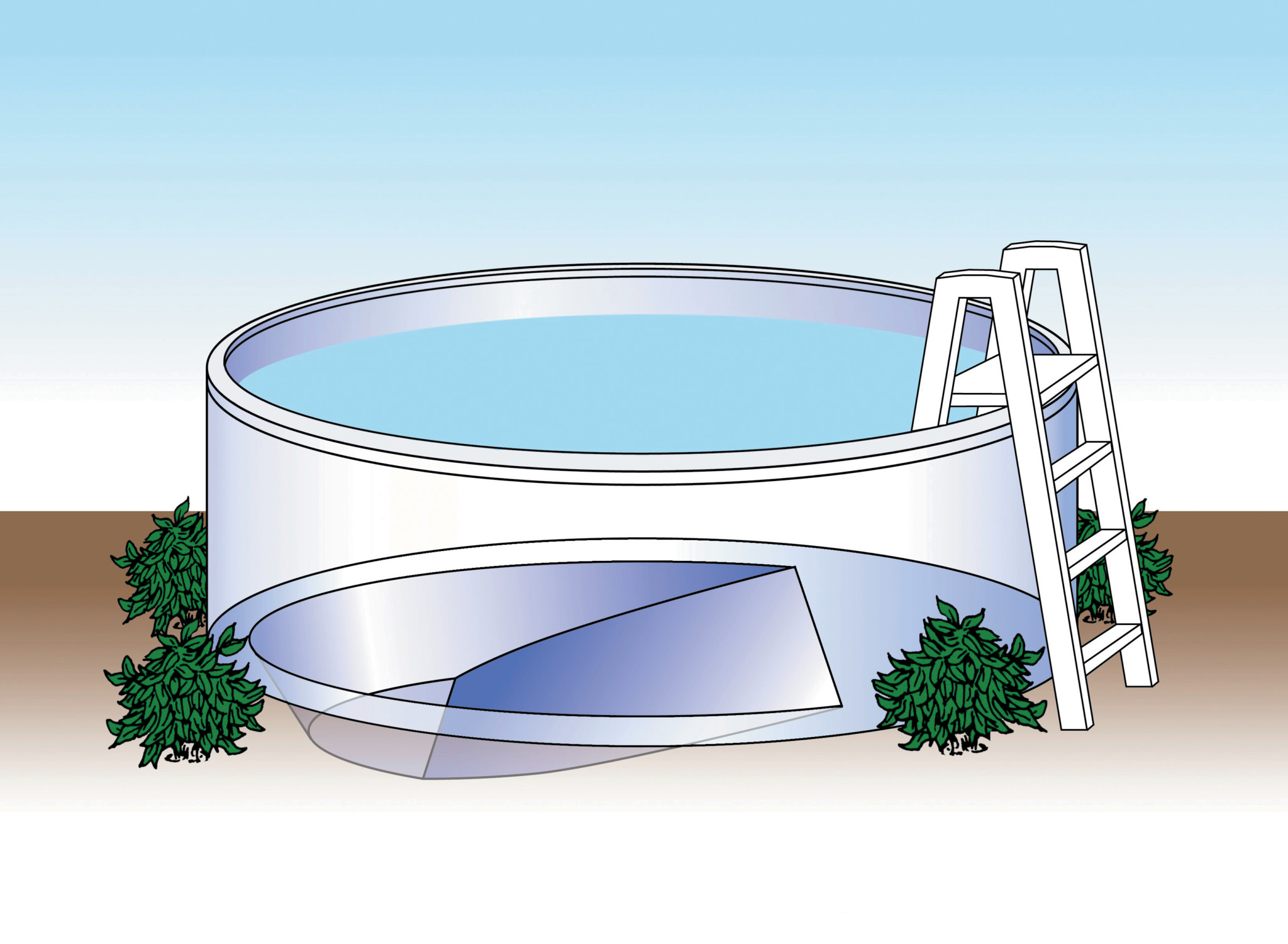 Above Ground Expandable Pool Liners Swimming Pool