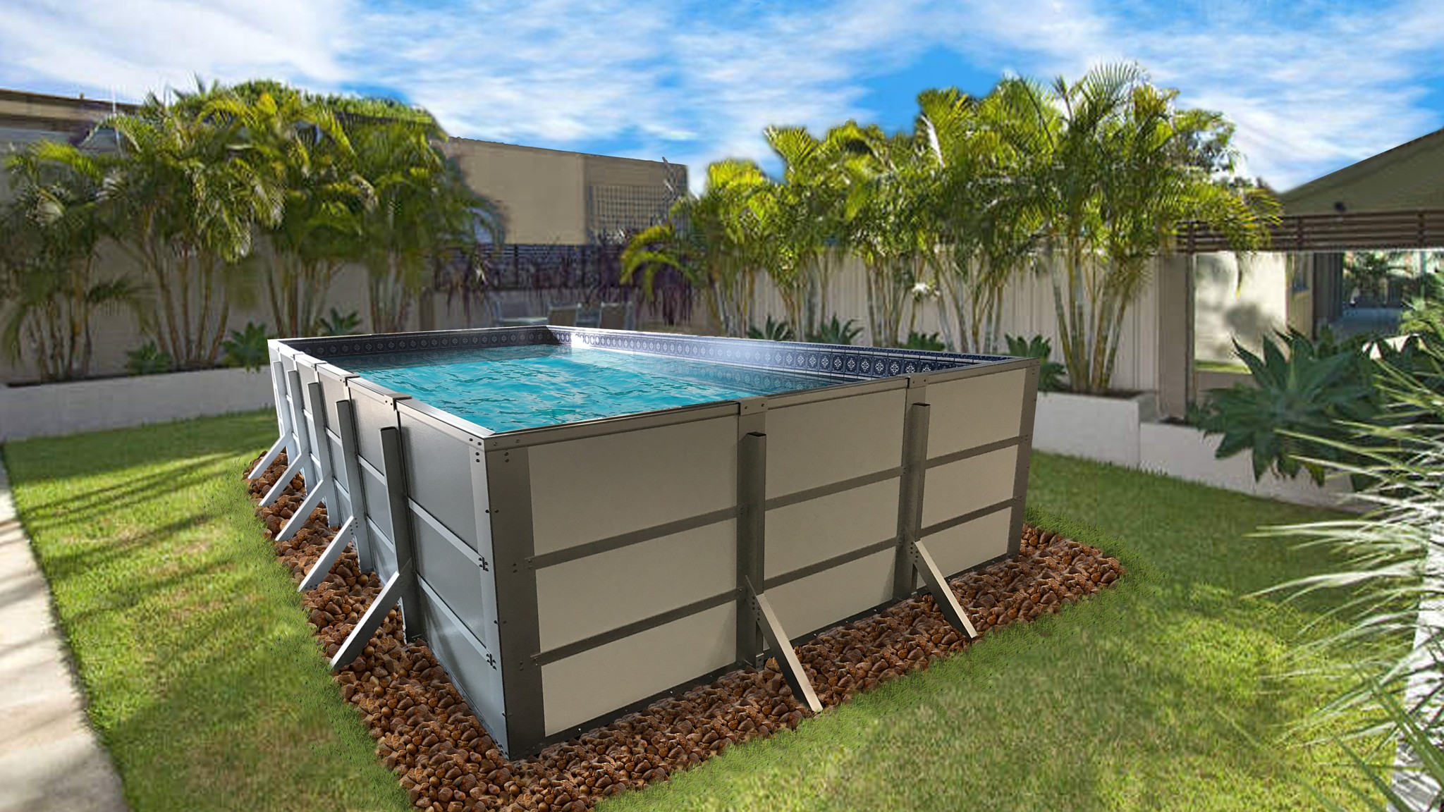 HERCULES MODULAR ABOVEGROUND RECTANGULAR POOL FOR 2019 | swimming ...