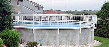 above ground deck pools