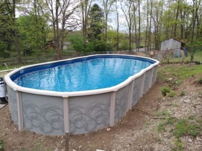 Swimming Pool Ers, How To Install An Above Ground Oval Pool