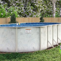 2021 Lomart Oval Frame Steel Pools
